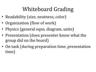 Whiteboard  Grading