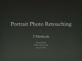 Portrait Photo Retouching