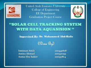 United Arab Emirates University College of Engineering EE Department Graduation Project Course
