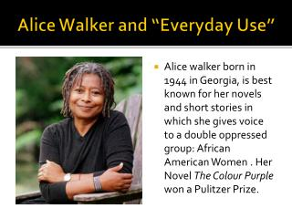 taking pride of ones heritage in the story everyday use by alice walker Literary analysis of everyday use by alice walker with the ideals of heritage and black pride literary analysis of everyday use by alice.