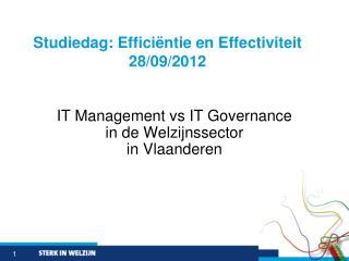 IT Management vs IT Governance  in de  Welzijnssector in Vlaanderen