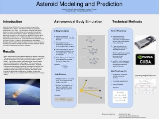 Asteroid Modeling and Prediction