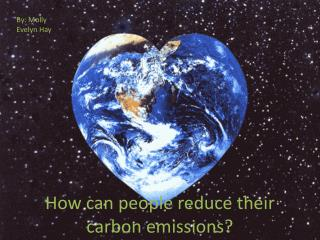 How can people reduce their carbon emissions?