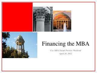 Financing the MBA