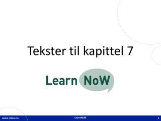 Tekster til kapittel  7
