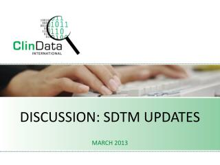 Discussion: sdtm updates