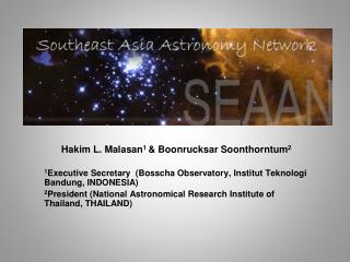 South-East Asian Astronomy Network (SEAAN):An Introduction