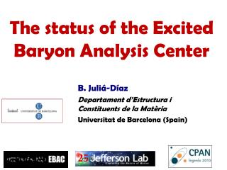 The status of the Excited Baryon Analysis Center