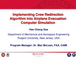 Implementing Crew Redirection Algorithm into Airplane Evacuation Computer Simulation
