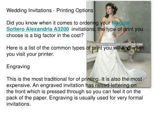 Wedding Invitations - Printing Options