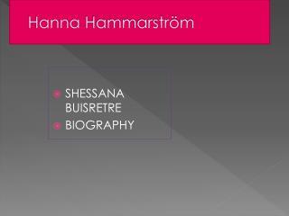 Hanna  Hammarström