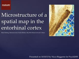 Microstructure of a spatial map in the entorhinal cortex