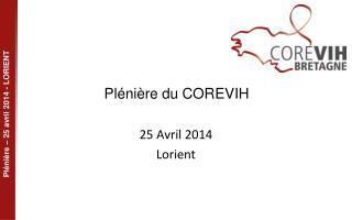 Plénière du COREVIH