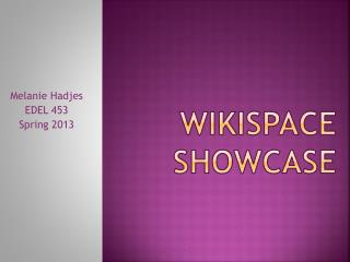 Wikispace Showcase