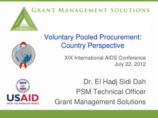 Voluntary Pooled Procurement: Country Perspective