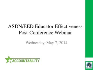 ASDN/EED Educator Effectiveness Post-Conference Webinar