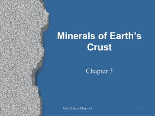 Minerals of Earth's Crust