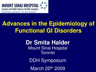 Advances in the Epidemiology of Functional GI Disorders