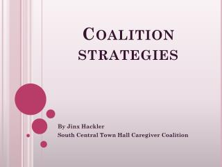 Coalition strategies