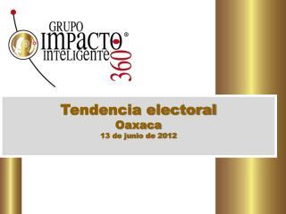 Tendencia electoral Oaxaca 13 de junio de 2012