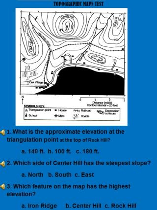 6. In which section of the map is the highest elevation located?