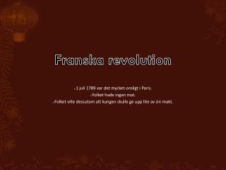 Franska revolution