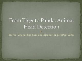 From Tiger to Panda: Animal Head Detection