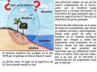 Qu�  es la biosfera