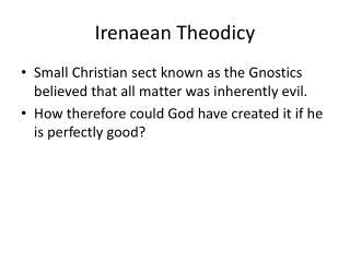 Irenaean  Theodicy