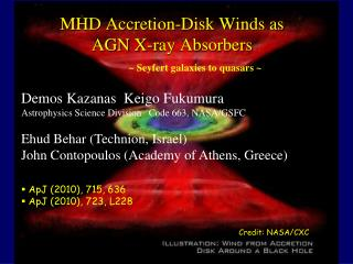MHD Accretion-Disk Winds as  AGN X-ray Absorbers ~  Seyfert  galaxies to quasars ~