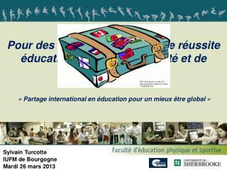 Pour des écoles promotrices de réussite éducative en matière de santé et de bien-être