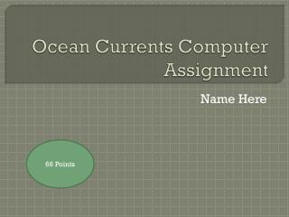 Ocean Currents Computer Assignment