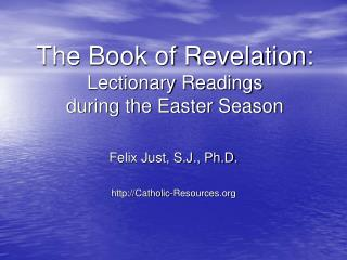 The Book of Revelation: Lectionary Readings during the Easter ...