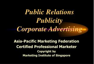 Public Relations Publicity Corporate Advertising