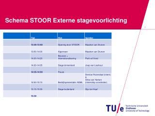 Schema STOOR  Externe stagevoorlichting