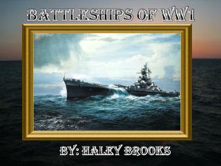 Battleships of WW1