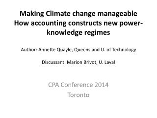CPA  C onference 2014 Toronto