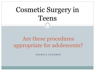 Are these procedures appropriate for adolescents?