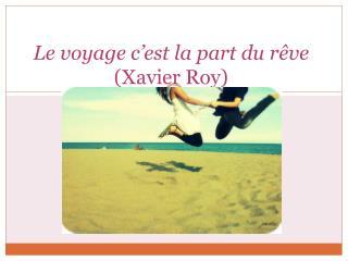 Le voyage c'est la part du rêve (Xavier Roy)