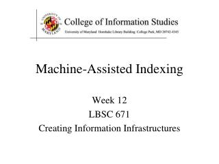 Machine-Assisted Indexing