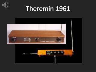 Theremin 1961
