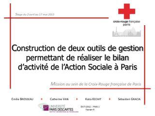 M ission au sein de la Croix-Rouge française de Paris