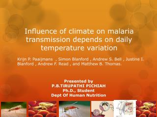 Influence of climate on malaria transmission depends on daily temperature variation