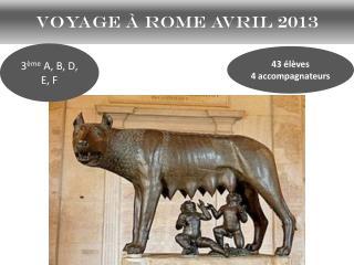 Voyage à Rome avril 2013