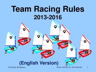 Team Racing  Rules 2013-2016