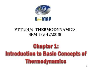 Chapter 1:  Introduction  to  Basic Concepts of Thermodynamics