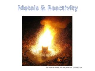 Metals & Reactivity