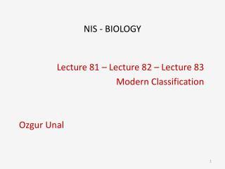 NIS - BIOLOGY