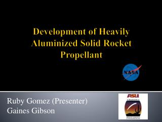 Development of Heavily Aluminized Solid Rocket Propellant