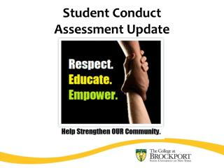 Student Conduct  Assessment Update